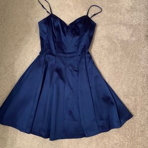 Dresses & Skirts - Blue satin dress